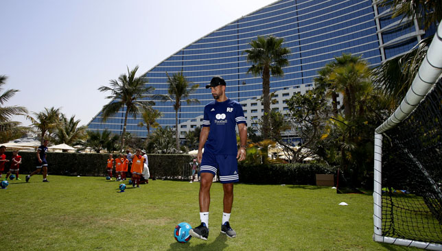 Living legend: Rio Ferdinand in Dubai. (Pic by Chris Whiteoak/whiteoakpictures)
