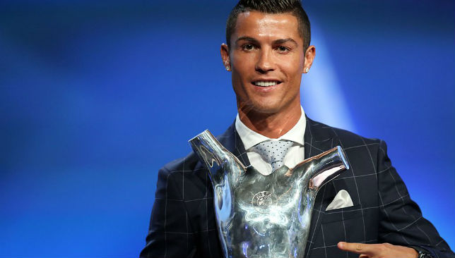 With the UEFA Player of the Year award.