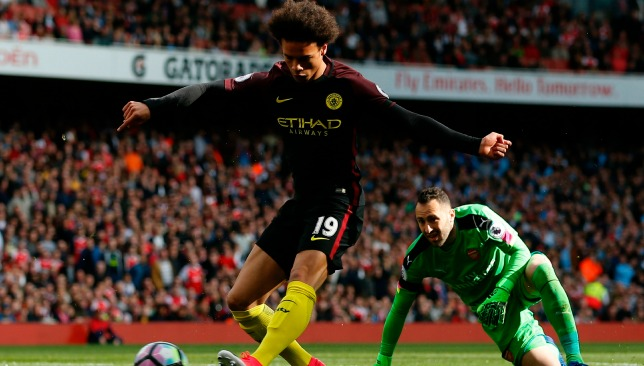 Sane opens the scoring at the Emirates.