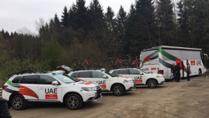 Sport360 joins Team UAE Emirates at Liege-Bastogne-Liege.