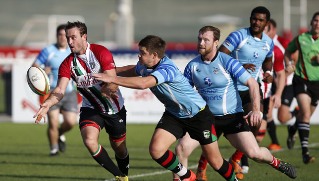 UAE's David Knight in action against the Conference Barbarians.
