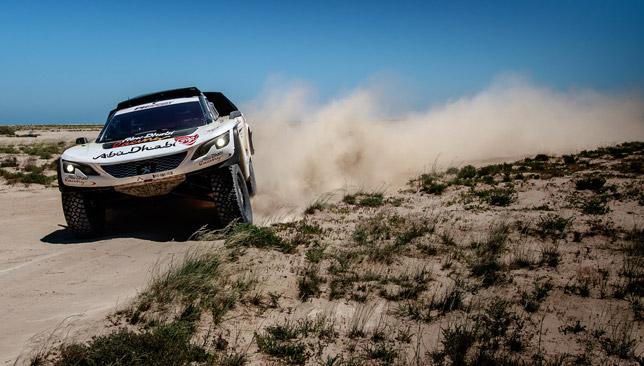 Al Qassimi tackles the terrain.