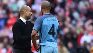 Kompany (r) has been impressive in recent weeks.