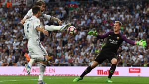 Ter Stegen pulled off a number of saves against Real.