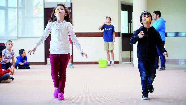 Keeping active: The club allows children to enjoy activities to give parents some free time.
