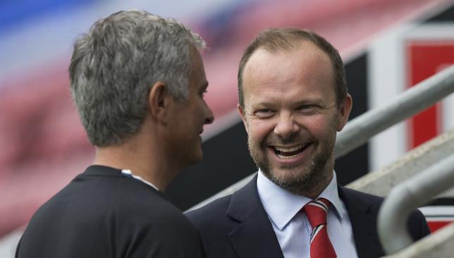 Woodward with Mourinho.