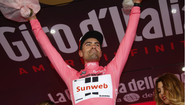 Tom Dumoulin won the Giro d'Italia in 2017.