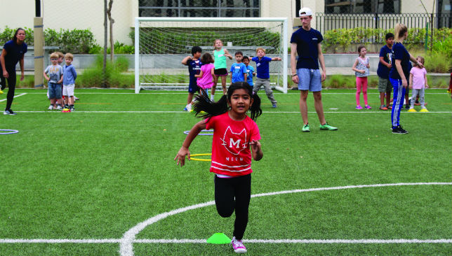 Sprinting to success: Team building exercises are a big part of the camps.