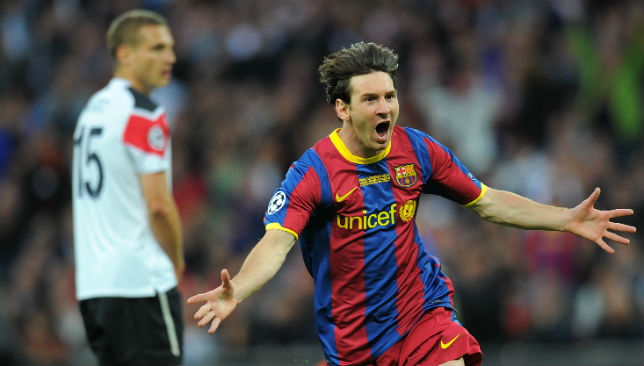 Loves scoring against English teams: Lionel Messi was terrific on the night.