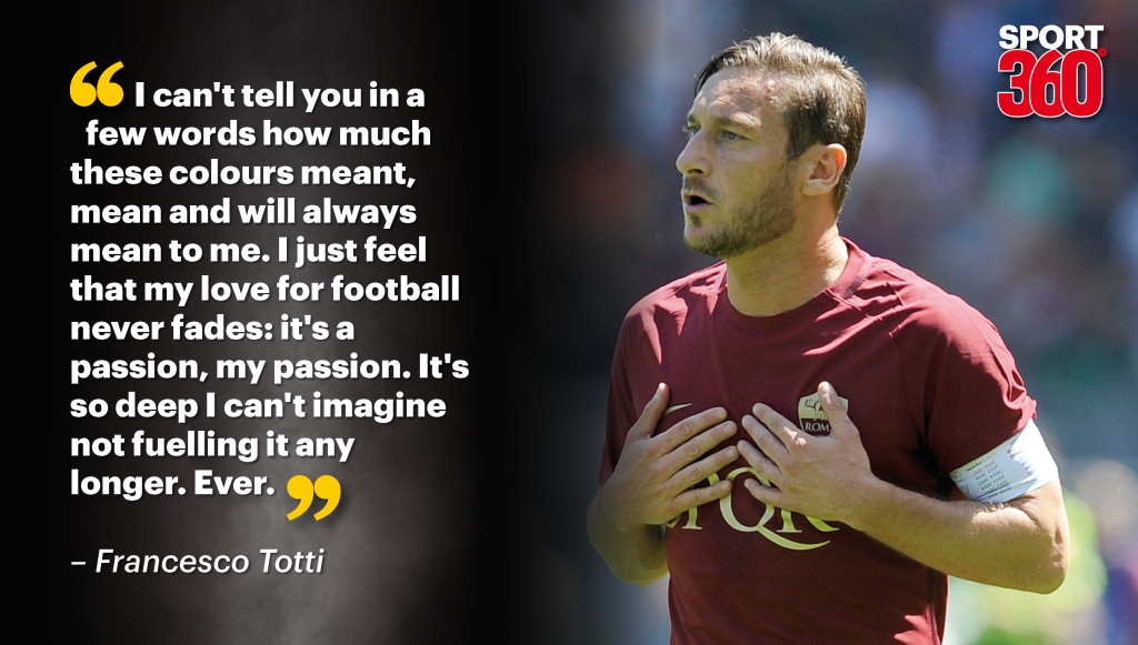 Totti confirms Roma exit after 24 years at the club