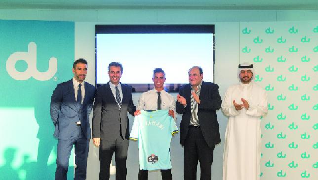 Blue is the colour: Ahmed El Yamani with his Celta Vigo shirt (du).