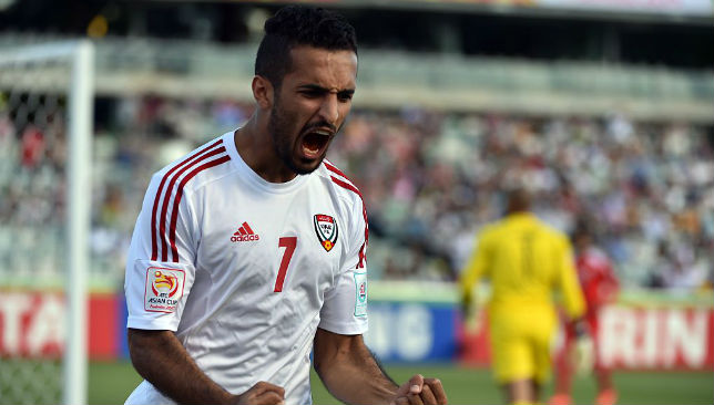 Ali Mabkhout finished as top scorer for the UAE at the 2015 Asian Cup.