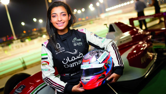 Taking giant strides: Amna Al Qubaisi.