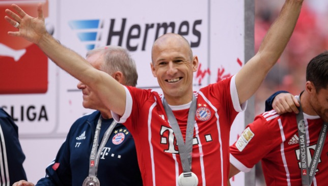 Still at top of his game: Robben.