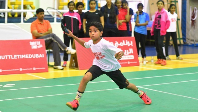 In action: Young UAE badminton stars.