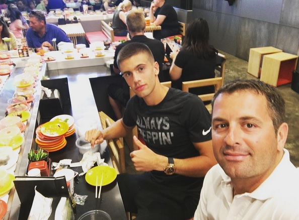 Coric and his coach Ancic (IG: @bornacoric).