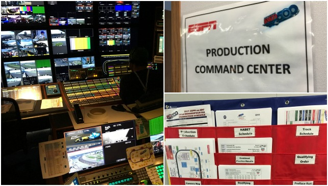 Inside the ESPN hub at Indy 500.