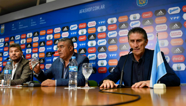 Second chance: Edgardo Bauza with Argentina (Getty).