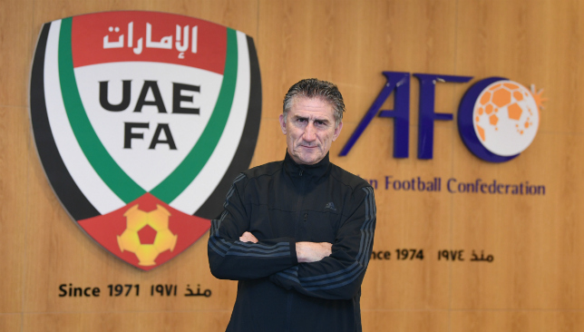 First impression: UAE coach Edgardo Bauza (UAE FA).