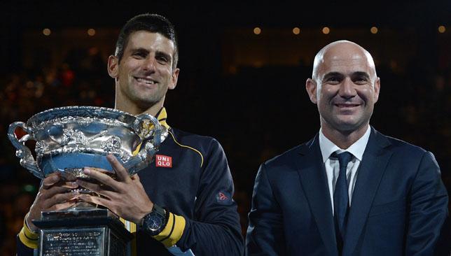 Superhuman team: Djokovic and Agassi.