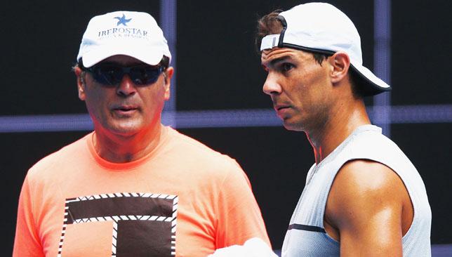 Dynamic duo: Toni and Rafael Nadal.