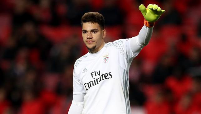 Benfica star Ederson.