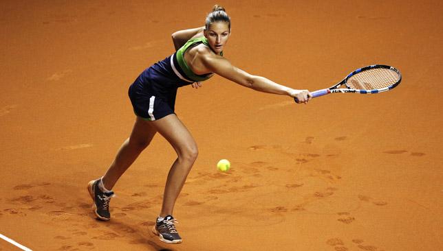 It's complicated: Karolina Pliskova on clay.
