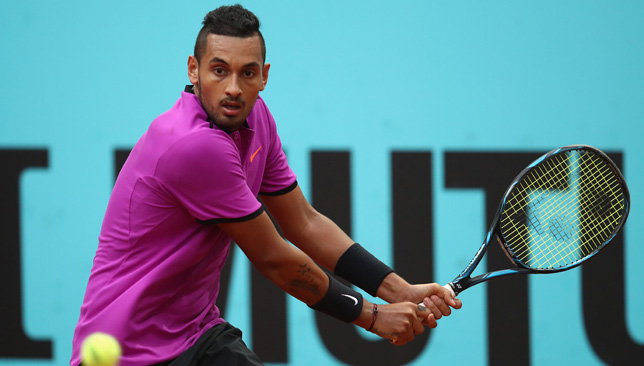 Focused: Nick Kyrgios.