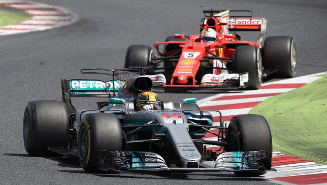 Hamilton and Vettel battle in Barcelona.