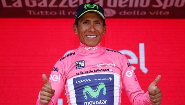 Quintana reclaims pink jersey with 2 stages to go in Giro