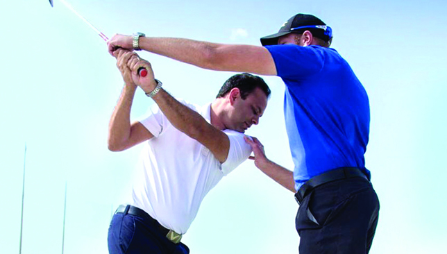 The club's professionals are at hand to help improve your game.