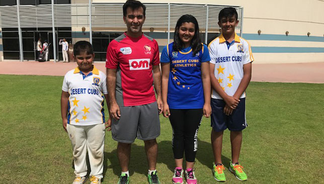 Former UAE skipper Tauqir with his children (from left) Omar, Ayesha and Obaid.