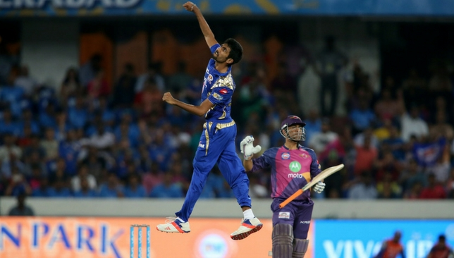 Bumrah is elated after dismissing Dhoni [Sportzpics]