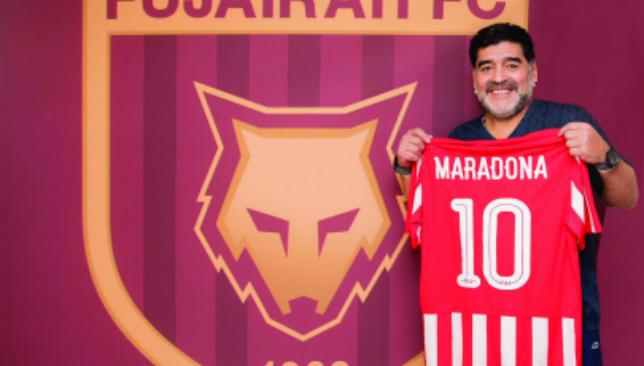 Diego Maradona was manger of UAE side Fujairah from 2017-18.