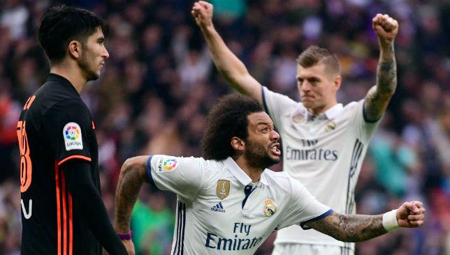 Scored a late winner against Valencia: Marcelo