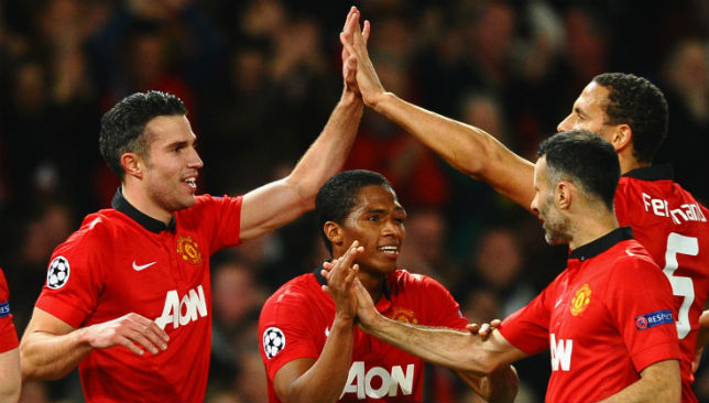 Robin Van Persie scored a hat-trick for Manchester United.