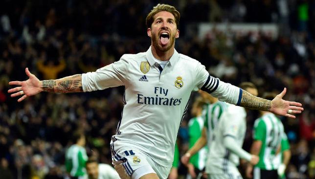 Has a knack of scoring late headers: Sergio Ramos