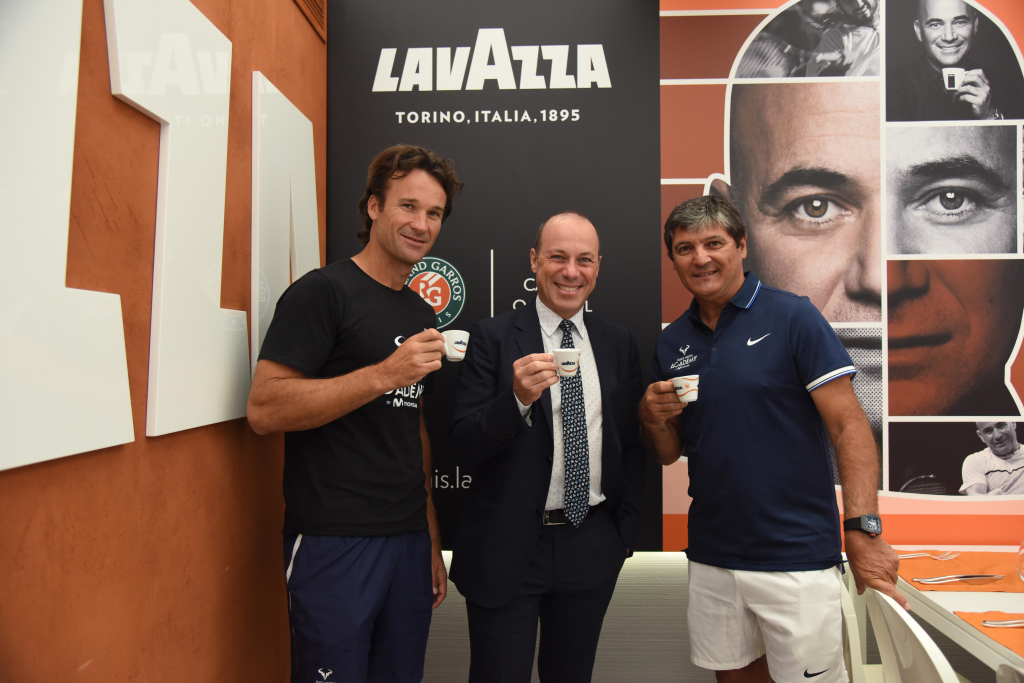 Carlo Moya, Giuseppe Lavazza and Toni Nadal