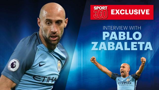 True blue: Zabaleta.