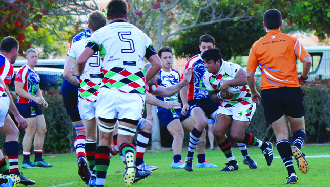 Phil Abraham in action for Abu Dhabi Harlequins.