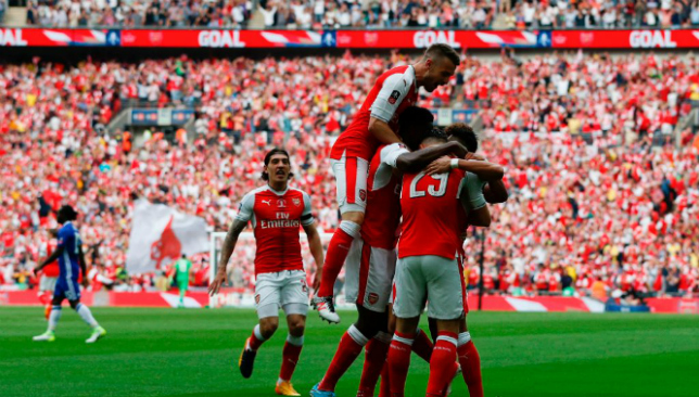 Arsenal denies Chelsea double as Ramsey seals FA Cup
