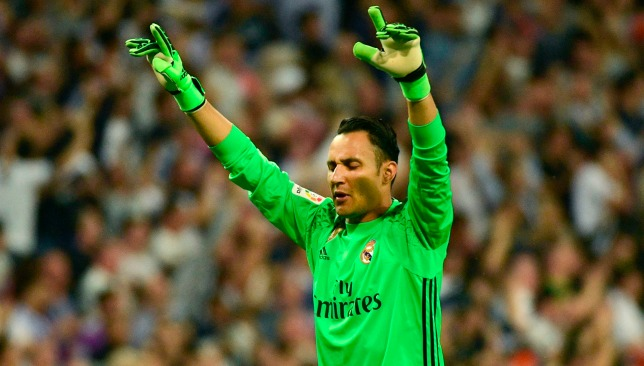 Keen: Navas wants to stay at the Bernabeu.