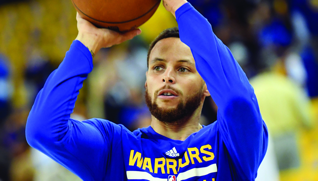 NBA superstar Stephen Curry.