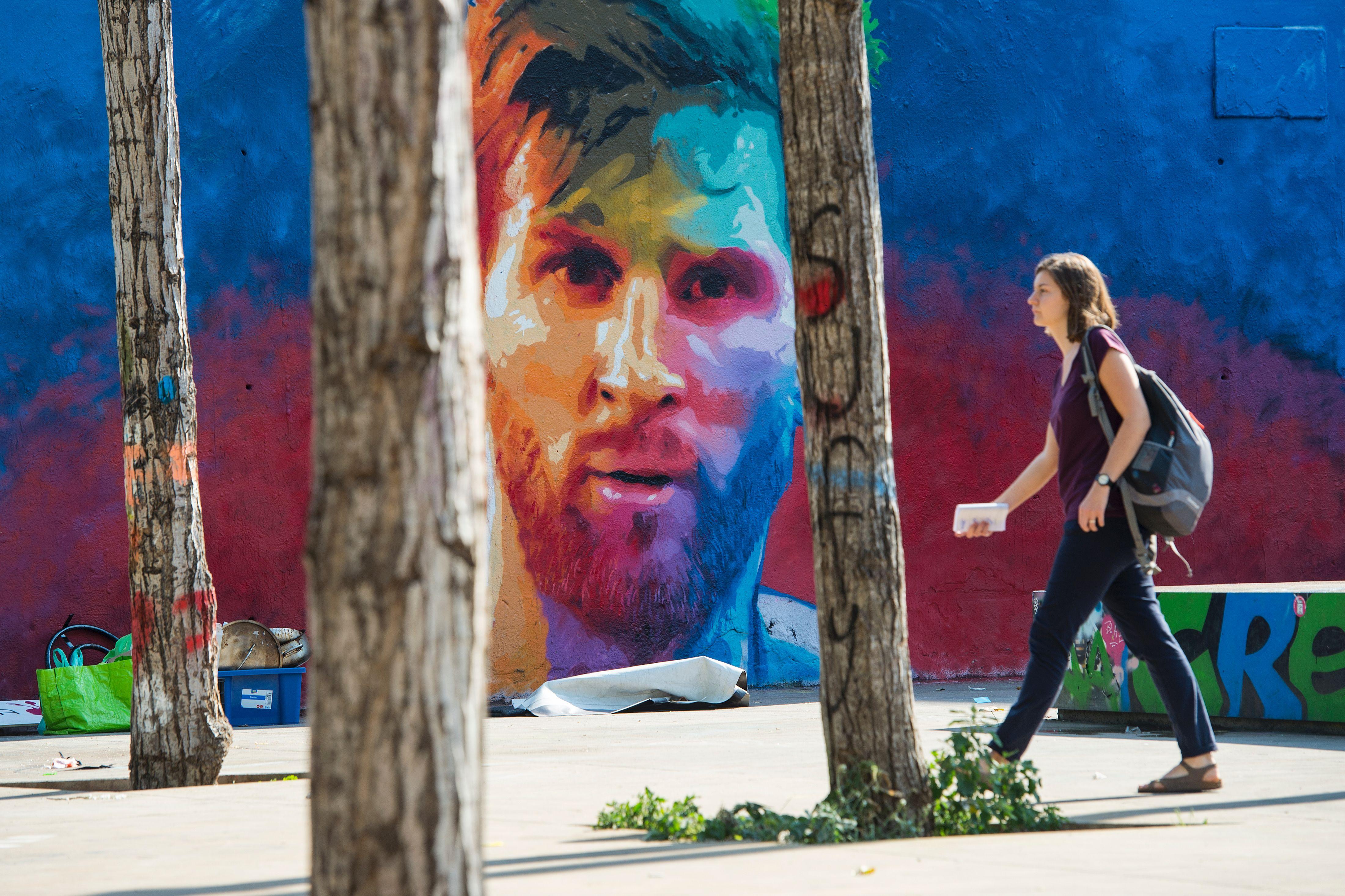 Graffiti wall barcelona - Fbl Esp Barcelona Messi
