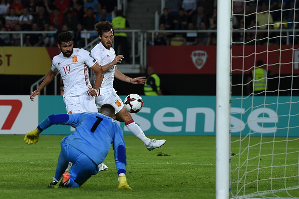 David Silva and Diego Costa on target as Spain beat plucky Macedonia