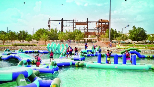 Wadi Adventure has a number of different challenges to conquer.