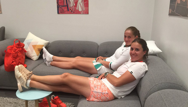 Dream team? Jelena Ostapenko and Anabel Medina (Photo via Twitter/@anabelmedina)