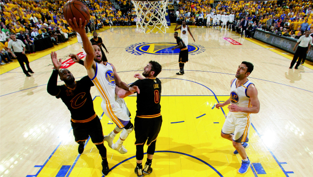 Rising above: Stephen Curry. Picture: Getty Images.