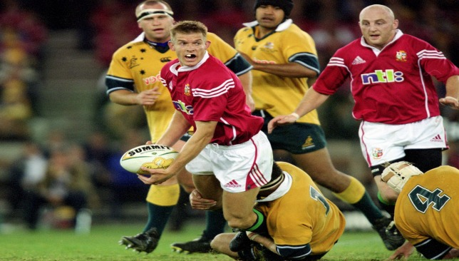 Dafydd James played for the Lions against Australia in 2001