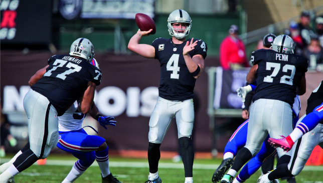 Keys to the Carr: Derek Carr. Picture: Getty Images.